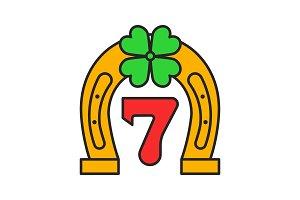 Lucky seven game color icon