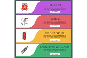 web banner templates set
