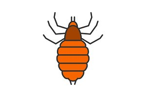 Louse color icon