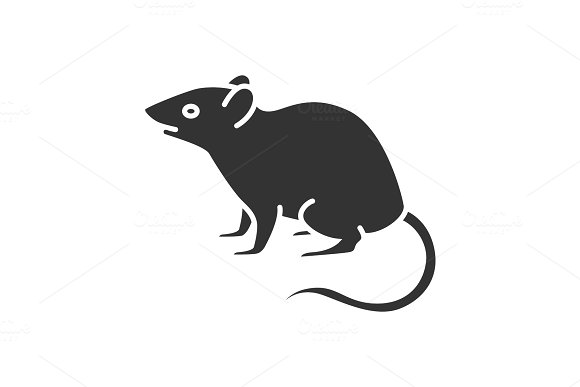 Mouse Rat Glyph Icon