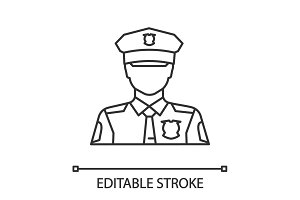Policeman linear icon