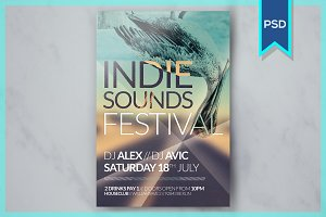 Indie Sounds Festival Flyer Template