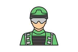 Soldier color icon