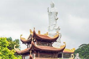 Beautiful Buddhist temple on the hillside, Phu Quoc, Vietnam