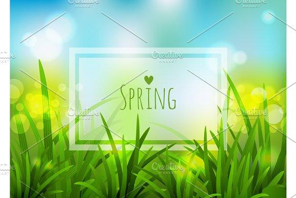 Nature Spring Background Vector Illustration