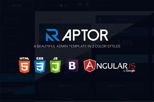 Raptor - AngularJS Admin Template