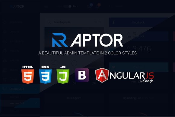 Raptor AngularJS Admin Template
