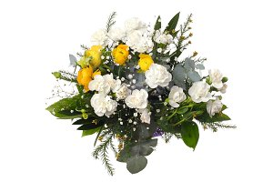 Flower bouquet on white