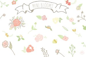Mini Blooms Clip Art