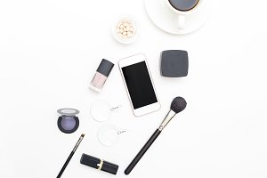 Beauty flat lay