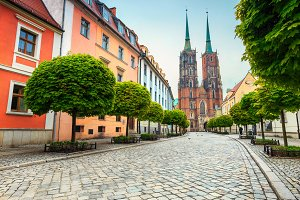St John Cathedral in Wroclaw, Poland
