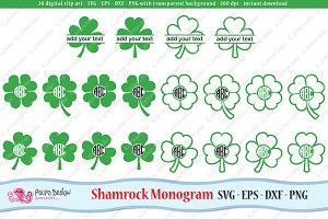 Shamrock Monogram SVG