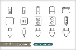 Minimal power icons
