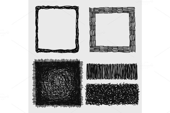 Hand Drawn Sketches Rough Hatching Grunge Texture Vector Illustration
