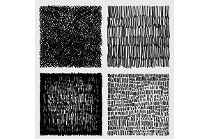 Hand drawn sketches rough hatching grunge texture. vector illustration
