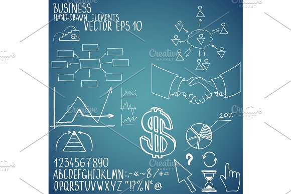 Business Elements Hand-drawn