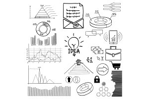 Detail demographic vector illustration. Information Graphics. Concept-business, economics, finance