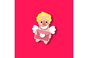 Cupid heart Valentine