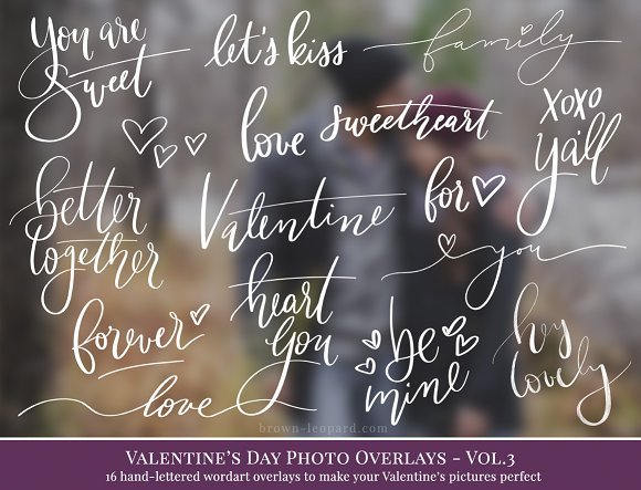 Valentine's Day Photo Overlays Vol.3