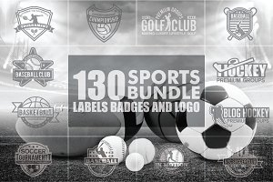 SPORTS BADGES AND LOGO BUNDLE