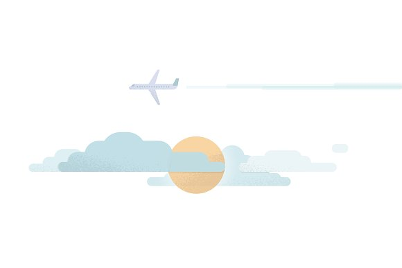 Sunny Flight Vector Illustration