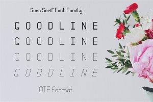 Goodline. Sans Serif Font