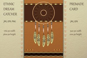 Big stylish ethnic dream catcher