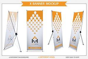 X Banner Mockup