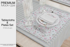Tablecloth, Runner, Napkins & Plates