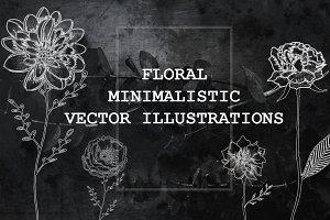 Minimalistic Floral Illustrations