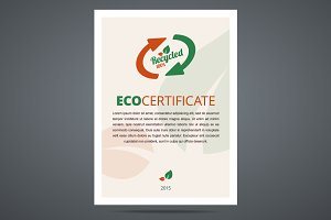 Recycled product / eco certificate