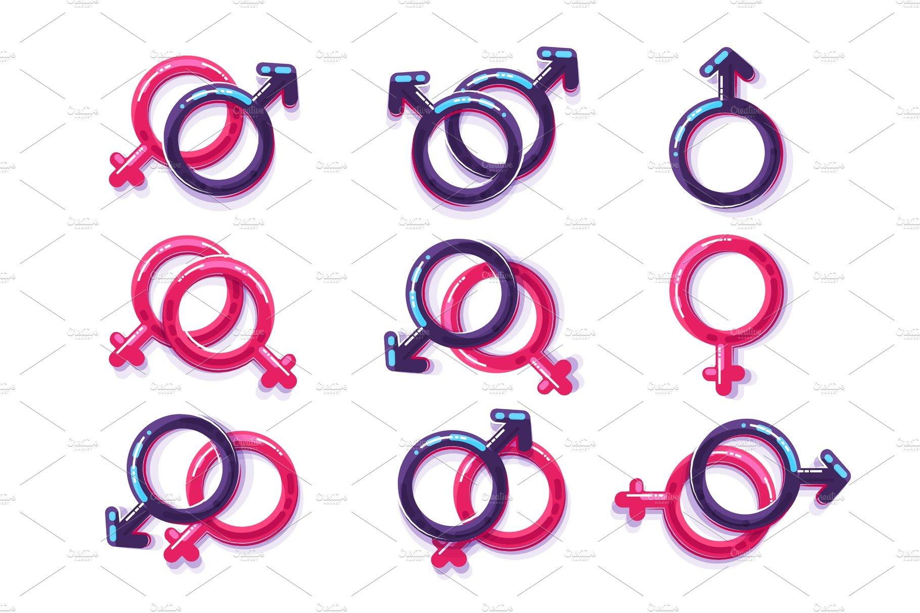 Female sex symbol gender men and gay illustrations creative female and male sex symbol gender lesbian and gay buycottarizona