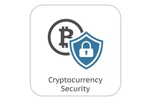 Cryptocurrency Security Icon.