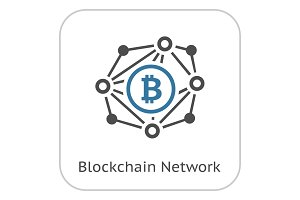 Blockchain Network Icon.