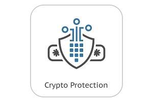 Crypto Protection Icon.