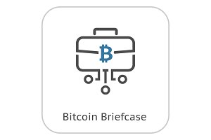 Bitcoin Briefcase Icon.