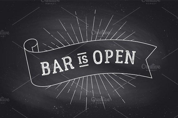 Bar Open Chalk Board