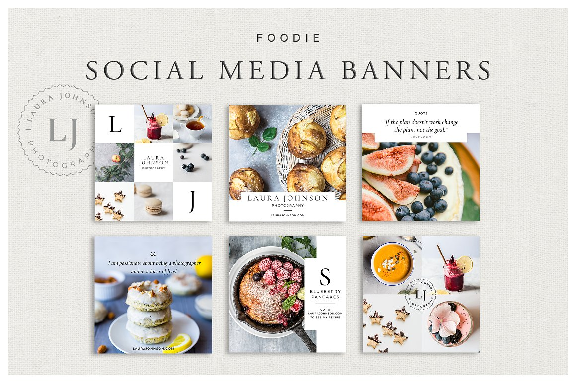 Foodie Social Media Banners