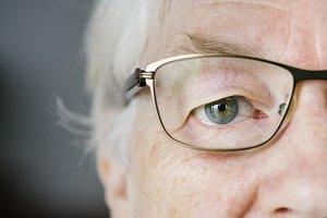 Closeup of elderly man