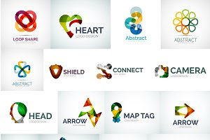 Abstract logotypes set