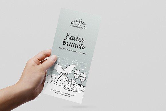 easter menu template flyer templates creative market