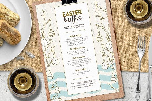 easter menu vol 2 flyer templates creative market