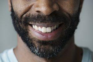 Closeup of black man