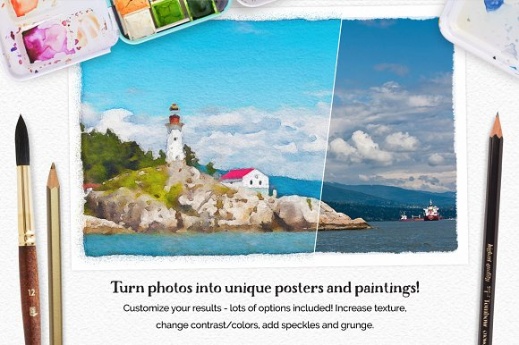 Vibrant Watercolor Photo Effect Kit in Photoshop Plugins - product preview 6