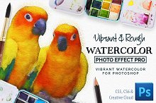 Vibrant Watercolor Photo Effect Kit by Calvin Drews in Plug-ins