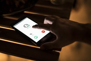 Smartphone call contact concept