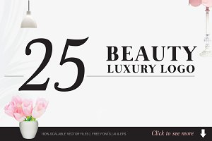 Beauty and Luxury Logo Bundle