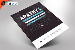 Apathy Church Flyer Template