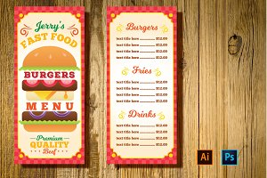 Burger Restaurant Menu
