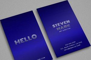 Beautiful Blue Trending Classy Card